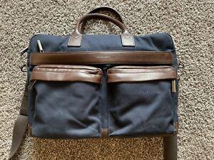 Hook & Albert Twill Navy Casual Briefcase - Mens Briefcase - Great Condition!