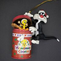 Vtg 97 Looney Tunes Sylvester and Tweety Homemade Cookies Christmas Ornament