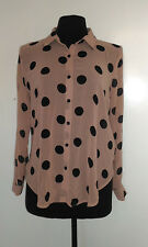 Forever 21 polka sheer long sleeve top