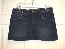 HINT JEANS Womens Distressed Blue Jeans Denim Mini Skirt Juniors Size 9 EUC