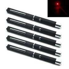 5pcs 638nm 5mW Red Focus Dot Laser Pointer Pen Positioning LED Presentation
