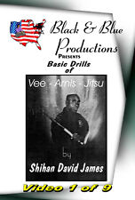 David James Vee-Arnis-Jitsu DVD #1 V-step pattern stepping,15 Basic Kuntao Kicks