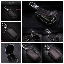 Good Quality Black Genuine Leather Car Key Holder Men & Women Key Purse Key Case