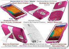 for SAMSUNG GALAXY NOTE III 3 HYBRID IMPACT RESISTANT COVER CASE STAND KICKSTAND