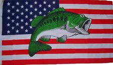 3x5 USA United States Bass Fish Fisher-mans Premium Flag 3'x5' Banner Grommets