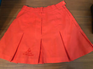 Vintage Retro Womens LE COQ SPORTIF Tennis Mini Skirt Size 6 Orange