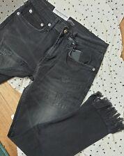 New Zara Black Slim Boyfriend Jeans Size 36