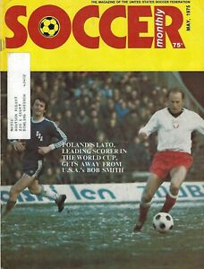 May 1975 Soccer Monthly Magazine - Grzegorz Lato Poland 1974 World Cup Star