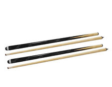 2x 57 Inch 2-Piece Hardwood Billiard / Pool House Cue Stick Free Post US Stock