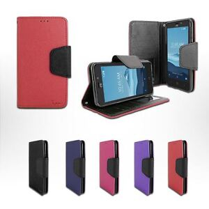 For Straight Talk ZTE ZFive 2 /Z836 Leather Wallet Flip Folio Stand Case Cover