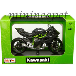 MAISTO 32708 KAWASAKI NINJA H2 R BIKE MOTORCYCLE 1/12 DARK GREY