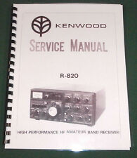 Kenwood R-820 Service Manual - Premium Card Stock Covers & 28 LB Paper!