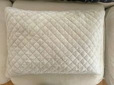 Restoration Hardware Grey Quilted Pillow Sham Velvet