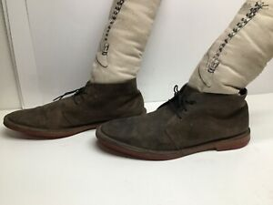 VTG MENS COLE HAAN CASUAL SUEDE BROWN BOOTS SIZE 8.5 M