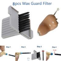 8Pcs Wax Guard Filter Cerumen Protector Hearing Aids Earphone Care Aid Tools QA