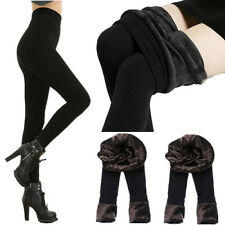 Black Woman Winter Thermal Fleece Lined Warm Thick Tights Pencil Pants Fashion