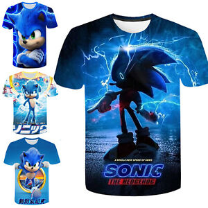 Sonic The Hedgehog Boys Girls T-shirt Baby Short Sleeve Printed 3D Casual Blouse