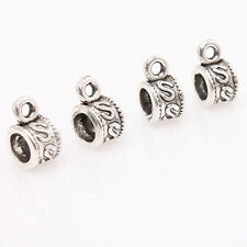 100pcs Antique Silver Letter S Printed European Charms Beads Fashion Jewelry L
