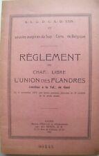 Chapitre Libre - L'Union des Flandres - Règlement - Gand 1951