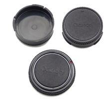 3 Canon Logo Caps 1 Camera Body Cap 2 Rear Lens  FD A-1 F-1 AE-1 T-90 F1N NEW