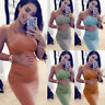Summer Women Maternity Sleeveless Breastfeeding Pregnancy Vest Midi Dress UK8-16