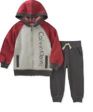 2a3e2a3a3e87 Calvin Klein 2-pc Fleece Hoodie   Jogger Pants Set Baby Boys 18 Months