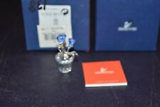 Swarovski Crystal Forget-Me-Not Blue Flower Pot #626873 with Box Retired Mini