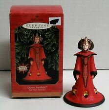 1999 Hallmark Star Wars Episode I Queen Amidala Christmas Ornament Nib