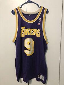 Authentic Champion Nick Van Exel Lakers Jersey 48 Made in USA - Kobe Bryant Era