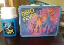 Vintage 1980 Disco Fever Metal Lunch Box By King-Seeley Thermos