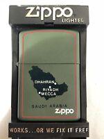 ORIGINAL ZIPPO - SAUDI ARABIA OP GRANBY 1990-1991 GREEN EXTREMELY RARE