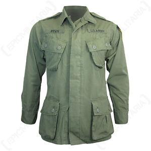 US Olive Green Tropical Jungle Jacket - Vietnam American Coat Shirt Repro New