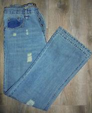 "Gasoline denim culture mens jeans - well worn look - sz 34""W -  *NEW*"