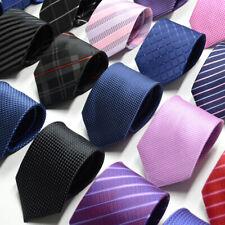 USA Men Formal Business Tie Formal Skinny Necktie Wedding Ties Black Dot Striped