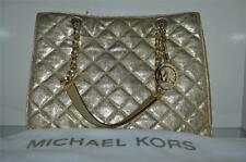 Michael Kors Susannah Large Tote 30H4MAHT3M Quilted Leather Large Chain Gold NWT