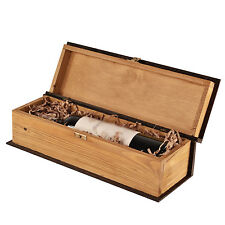 Single Bottle, Wooden Luxury Gift Box for Wine, Champagne or Whisky