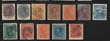 Venezuela: Lot 12 stamps with displaced overprint, some with an imperf... VE1032