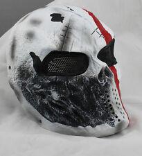 COOL Fiberglass Resin Mesh Eye Airsoft Paintball Full Face Protection Skull Mask