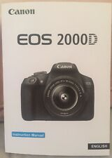 Canon EOS 2000D Full Colour Manual - Printed & Professionally Bound Size A5 NEW