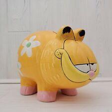 1997 Matscot Garfield the Cat Large Ceramic Pig Coin Bank
