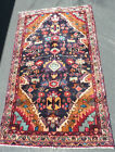Quality Tribal Hamadan Authentic Hand-knotted Wool rug, Gorgeous colors 3x6