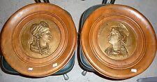 anciennes plaques commémoratives en bronze Alsace et Lorraine encadrements bois