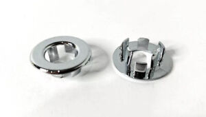 Pair Chrome Door Lock Knob Grommets For 1965-1968 Ford Mustang