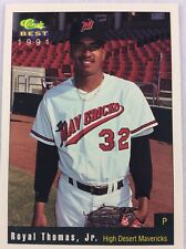 1991 High Desert Mavericks-Classic BEST Minor Lg Baseball Card-Royal Thomas, Jr.