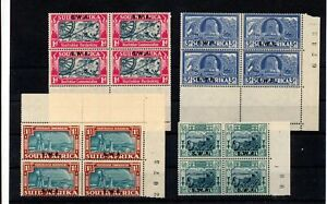 SWA South West Africa 1939 Voortrekker Blocks MNH (Seq181s