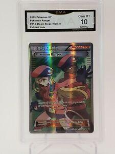 POKEMON RANGER 113/114 FULL ART Pokemon TCG Ultra Rare (PSA) GMA 10 GEM MINT!