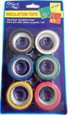 New 6x 4.5Meters Electrical Insulation Tape Seal Tape Assorted Colours