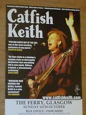 Catfish Keith - Glasgow oct.2011 tour concert gig poster