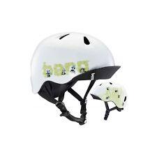 Bern Unlimited Jr. Nino Summer Helmet (Matte White Panda Logo / Youth / XS/S)