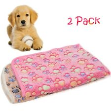 2Pack Small Animal Warm Blanket Sleep Mat for Dog Cat Pet Puppy Kitten Pig Doggy